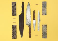 hand-crafted in a world heritage century building in derby, england, ben edmonds' 'blok knives' kitchen range represents how beautiful, primal and unique knife craftsmanship is. Unique Knives, Take Apart, Magnetic Knife Strip, Magazine Design, How Beautiful, Kitchen Knives, Kitchen Accessories, Architecture Design, Design Inspiration