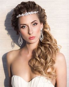 curly long wedding hairstyle