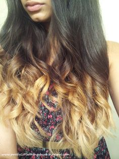 Ombre hair. Curles.