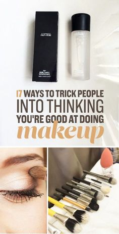 17 Easy Makeup Tips Every Beginner Should Know 17 Ways To Trick People Into Thinking You're Good At Makeup All Things Beauty, Beauty Make Up, Beauty Care, Diy Beauty, Beauty Hacks, Makeup Dupes, Skin Makeup, Makeup Brushes, Makeup Cosmetics