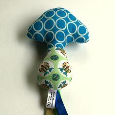 mushroom rattle( twoo and blue) £11.50