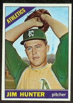 Jim Catfish Hunter 1966 Topps Rookie Card
