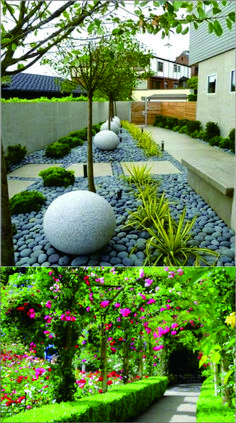 Here are a few garden landscaping ideas and ideas to how you can improve the current state of your yard in a more creative and feasible manner. #garden #backyard #home