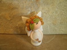 Angel with Hearts by countrycupboardclay on Etsy, $8.95