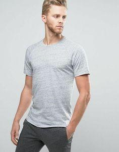 3e79ac1e5 Selected Homme T-shirt Raglan Sleeve Slub Cotton Blue Large AA 03