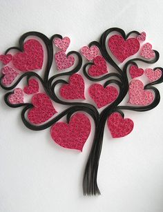 Do All Sorts of Fun with Paper Quilling and Quilling Art Trees? Items similar to handmadeItems similar to handmade Handmade Items similar(Notitle) Do All Sorts of Fun with Paper Quilling and Quilling Art Trees? Arte Quilling, Paper Quilling Designs, Quilling Paper Craft, Quilling Patterns, Paper Crafts, Quilling Ideas, Diy Paper, Valentine Crafts, Be My Valentine