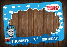 birthday party - photo booth frame- super party- thomas the train party- boys- girls - photo booth prop
