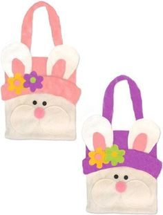 Easter bunny bag - felt Easter Bunny faced bag - ideal for egg-hunts. Assorted colours ONE SUPPLIED by Davies Products, http://www.amazon.co.uk/gp/product/B006ZJ0DUC/ref=cm_sw_r_pi_alp_jzJkrb1TCAKJJ
