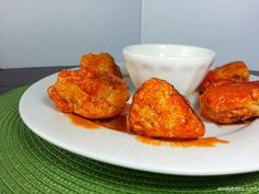 Buffalo Chicken Meatballs (Slow Cooker)