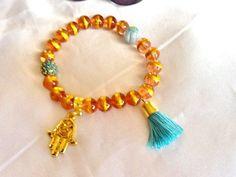 SALE----GYPSY PRINCESS bracelet - Hamsa bracelet - amulet bracelet - bohemian bracelet -ethnic jewelry by Nezihe1 on Etsy