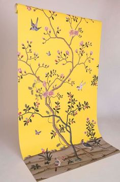 Fromental yellow chinoiserie wallpaper