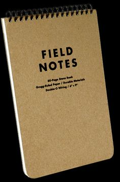 I love these note books. I use them for capturing random thoughts ... and for taking notes when talking with people.