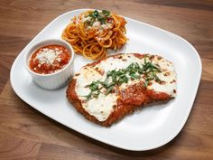 Veal Parm with Spaghetti Recipe | Anne Burrell | Food Network Italian Dishes, Italian Recipes, Crockpot Recipes, Cooking Recipes, Chicken Recipes, Chef Anne Burrell, Worst Cooks In America, Veal Chop, Feeding A Crowd