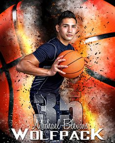 Our basketball player banner photo template is designed with a print ratio. The basketball player banner photo template is a multi-layered photoshop file. Senior Pics, Basketball Senior Pictures, Basketball Posters, Sports Basketball, Basketball Socks, Senior Portraits, Illini Basketball, Basketball Clipart, Basketball Court