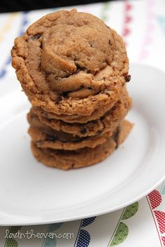 Dark Chocolate Peanut Butter Cup Cookies... say that five times fast!