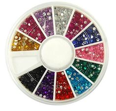 1Set Outstanding Popular 3D Acrylic Nails Art Wheel DIY Tips Case Fashion NonToxic Color Style Rhinestones ** You can find more details by visiting the image link.