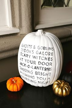 Carving No Pumpkin Decorating Ideas - Halloween Party - . - Carving No Pumpkin Decorating Ideas – Halloween Party – the - Holidays Halloween, Halloween Crafts, Modern Halloween Decor, Halloween Pumpkin Decorations, Halloween Halloween, Halloween Sayings, Cheap Pumpkin Decor, Painted Halloween Pumpkins, Halloween Poems For Kids