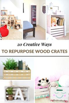 Wood crates are perfect for all areas of your home, including the living room, bedroom and even in a great reading area!