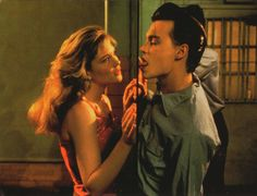 Amy Locane & Johnny Depp in Cry Baby, 1990 Johnny Depp Cry Baby, Young Johnny Depp, Cry Baby Movie, Cry Baby 1990, Movie Tv, Johnny Depp Joven, Johny Depp, Iconic Movies, Old Movies