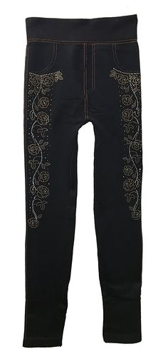 Just One Women's Soft Lined Fashion Jeggings - Graffiti Stud Print at Amazon Women's Clothing store: