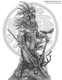Symbols of aztec and maya Jaguar Tattoo, Aztec Warrior Tattoo, Warrior Tattoos, Aztec Tattoo Designs, Aztec Designs, Aztec Drawing, Mayan Tattoos, Ear Tattoos, Aztecas Art