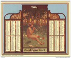 Calendario dei ricordi anno 1939