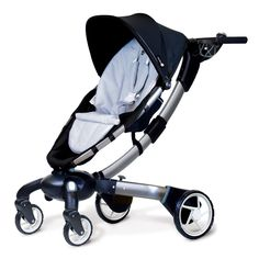 4moms Origami Stroller, Black/ Silver  IT CHARGES YOUR CELL PHONE.