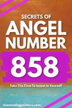 Do you keep seeing the 858 angel number? If so, your guardian angels are urging you to take the time to invest in yourself . Angel Number Meanings, Angel Numbers, Numerology Numbers, Numerology Chart, Sign Meaning, Life Path Number, Finance Blog, Spiritual Inspiration, Spiritual Awakening