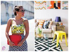 Mix de estampas: fashion x decor #mix #estampas #fashion #decor #casadasamigas