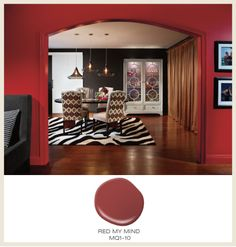 Color of the Month for February is Red Hot! Try Red My Mind MQI1-10 in your home today.