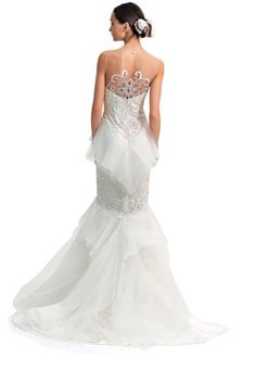Trend: Sexy Backs is in for Wedding Dresses.  This would be so pretty on Danielle!