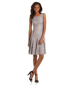 JS Collections Drop-Waist Lace Fit-and-Flare Dress | Dillards.com