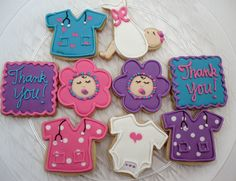 """Thank you"" cookies for an OB or nurse after you deliver a baby"