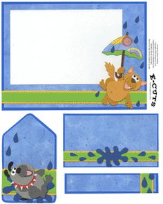 E-Cuts (Download and Print) Raining Cats and Dogs 2 at Scrapbook.com $0.99