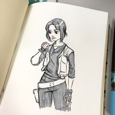 Sketch 114: Jyn Erso Quick sketch inspired by Rogue One which I saw on Sunday and LOVED!