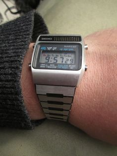 Seiko A159-5009, March '78.  The nice thing about owning Omegas and other expensive watches is that I can wear this without irony, on its own merits.  It's a great watch.