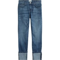 Current/Elliott The Cuffed Skinny Jeans (1.125 RON) ❤ liked on Polyvore featuring jeans, blue, slim fit skinny jeans, blue jeans, zipper jeans, cuffed jeans and skinny fit jeans