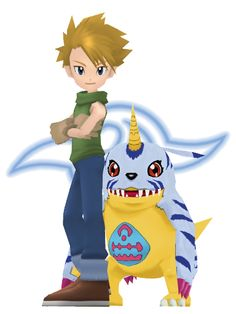 _mmd_digimon__matt_and_gabumon_by_mmdmodelsall-d79ioqh.png (384×512)