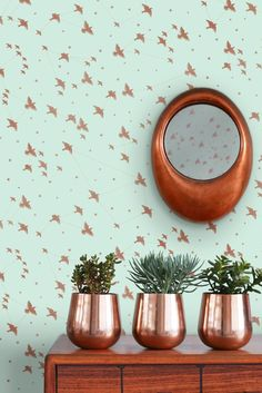 Beautiful new wallpapers by Mini Moderns are now available which includes this lovely Star-ling design.