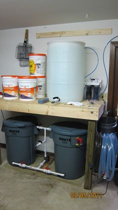 Salt Water Mixing Stations Let's See Them - Page 9 - Reef Central Online Community Saltwater Aquarium Setup, Wall Aquarium, Glass Aquarium, Diy Aquarium, Saltwater Tank, Marine Aquarium, Aquarium Fish Tank, Aquarium Ideas, Fish Tank Accessories