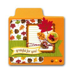 Fall Leaves Grateful Card