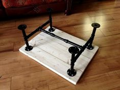 Plumbing Pipe Coffee Table: we needed a new coffee table as ours was horrible. all ones I could find in shops and online (that i liked) were out of my price range :( I went through a phase where I… Design Industrial, Industrial Table, Industrial Furniture, Vintage Industrial, Kitchen Industrial, Plumbing Pipe Shelves, Plumbing Pipe Furniture, Diy Furniture Table, Furniture Plans
