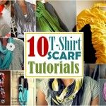 10 fabulous DIY T-shirt scarf tutorials to check out. I heart Upcycling. Diy Scarf, Scarf Shirt, T Shirt, Shirt Scarves, Scarf Ideas, Ruffle Scarf, Sewing Hacks, Sewing Crafts, Sewing Projects
