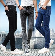 13.39$  Watch here - http://ali8d3.shopchina.info/go.php?t=32453589903 - New 2016 Men's Tight Pencil jeans Male Slim Blue Fashion Casual Denim Trousers Men Skinny Jean Pants Size 28-34 Free Shipping 13.39$ #SHOPPING