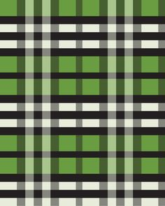 Preppy Tartan Lime Green Plaid Pattern Art Print by The BeezKneez