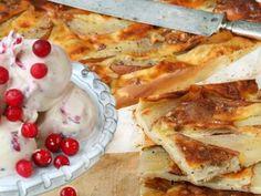 Päronpannkaka med tranbärsglass Receptbild - Allt om Mat