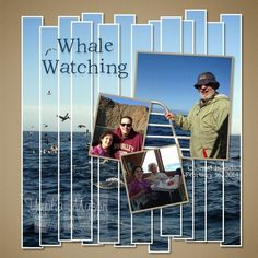 Whale watching scrapbook layout