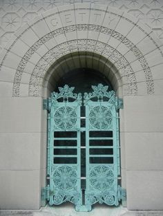 Louis Sullivan Getty Tomb Entrance.