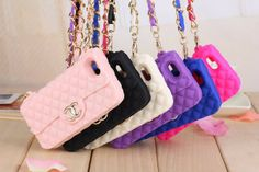 Beautiful Fashion Soft Cute Silicone Purse Handbag Chain Case Cover Skin for iPhone 5/5s/4/4s,Samsung Phones