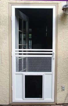 Screen Doors With Dog Door | The Screen Guys | Mobile Screening For Window  And Door